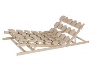 Lattenrost mit Holzteller Sitz+Fußhochstellung