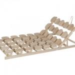 Lattenrost mit Holzteller Sitzhochstellung